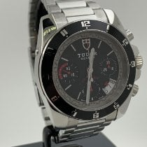 Tudor Grantour Chrono Steel 42mm Black No numerals