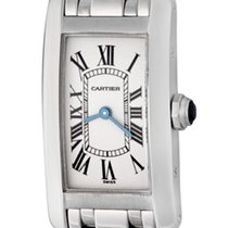 Cartier Tank Américaine White gold 19mm Silver Roman numerals United States of America, Texas, Dallas