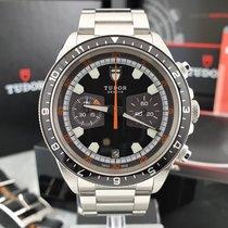 Tudor Heritage Chrono Steel 42mm Black No numerals