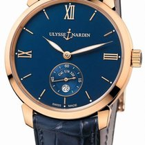 Ulysse Nardin Rose gold Automatic Blue Roman numerals 40mm new Classico