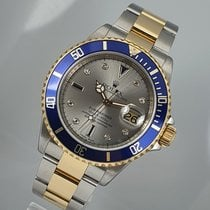 Rolex Submariner Date pre-owned 40mm Gold Date Gold/Steel