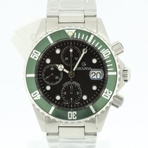 Grovana Automatic Diver Chronograph Green NEW 2 Years Warranty...