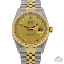 Rolex Datejust Steel & Gold | Jubilee Diamond Dial | Fluted Bezel