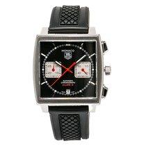 TAG Heuer Monaco Caw2114 Mens Automatic Watch Black Dial...