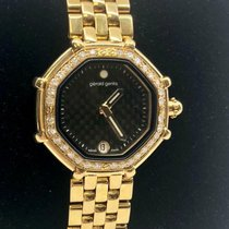 Gérald Genta Yellow gold Quartz Black 27mm pre-owned