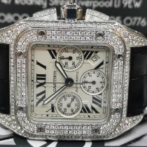 Cartier Santos 100 Steel 41mm White Roman numerals United Kingdom, Liverpool