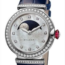 Bulgari White gold Automatic Mother of pearl 36mm new Lucea