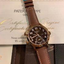 Patek Philippe Travel Time Oro rosa 37.5mm Marrone Arabo Italia, Caserta