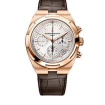 Vacheron Constantin Rose gold Automatic Silver 42.5mm new Overseas Chronograph
