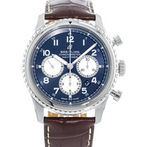 Breitling pre-owned Automatic 43mm Blue Sapphire Glass