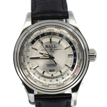 Ball Trainmaster Worldtime Steel 41mm Silver United States of America, New York, New York