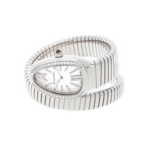 Bulgari Serpenti Steel 35mm Silver Roman numerals United States of America, Pennsylvania, Bala Cynwyd