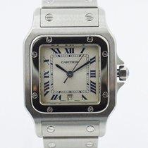 Cartier Santos Galbée Сталь 29mm Белый