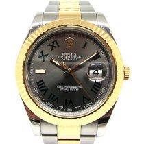 Rolex Datejust II Acero y oro 41mm Gris Romanos España, Marbella