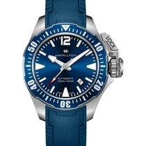 Hamilton Khaki Navy Frogman Steel 42mm Blue No numerals