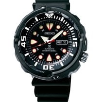 Seiko Ceramic Automatic Black No numerals 50mm new Prospex