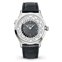 Patek Philippe Complications World Time White Gold Watch Brown...