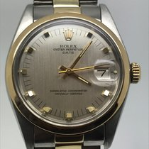 Rolex Oyster Perpetual Date 34MM STEEL/GOLD RARE GREY DIAL