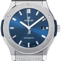 Hublot Classic Fusion Blue Leather Titanium Automatic Men...