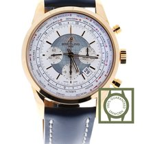 Breitling Transocean Chronograph Unitime 18kt pink gold silver