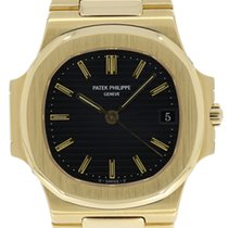 Patek Philippe Gold Nautilus Watch Ref. 3800 Blue Dial