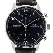 IWC Portuguese Chronograph Steel 41mm Black
