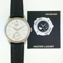 Rolex Cellini Dual Time Oro blanco 39mm Negro Sin cifras