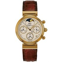 IWC Da Vinci Chronograph pre-owned 29mm Yellow gold