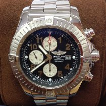 Breitling Super Avenger Steel 48mm Black Arabic numerals