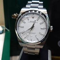Rolex Oyster Perpetual 39 Staal 39mm Geen cijfers