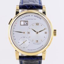 A. Lange & Söhne Yellow gold Automatic Silver No numerals 39.5mm pre-owned Lange 1