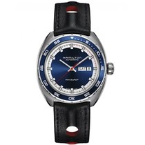 Hamilton Pan Europ Acier 42mm Bleu France, Paris