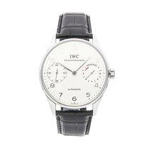 IWC Platinum Automatic Silver Arabic numerals 36mm pre-owned Portuguese Automatic