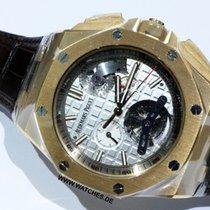 Audemars Piguet Royal Oak Offshore Tourbillon Chronograph Pозовое золото 44mm Cеребро