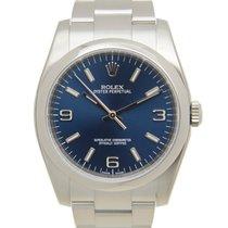 Rolex Oyster Perpetual 36 Stahl 36mm Blau