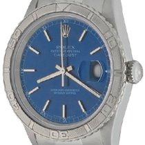 Rolex Datejust Turn-O-Graph Steel 36mm Blue No numerals