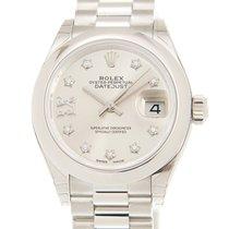 Rolex Platin Automatik Silber 28mm neu Lady-Datejust