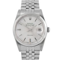 Rolex Air King Date Staal 34mm Zilver