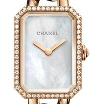 Chanel Red gold Quartz Mother of pearl No numerals 22mm new Première