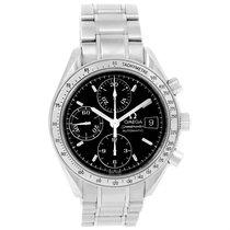 Omega Speedmaster Date Automatic Black Dial Steel Watch...