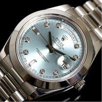ロレックス (Rolex) Day-date Ii 218206a Automatic Roll Platinum Ice...