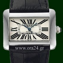 Cartier Tank Divan XL Automatic White Roman FULL Set