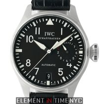 IWC Big Pilot pre-owned 46mm Black Date Crocodile skin