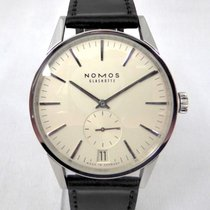 NOMOS Zürich Datum pre-owned 39mm White Date Leather