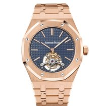 Audemars Piguet Royal Oak Tourbillon Rose gold 41mm Blue No numerals