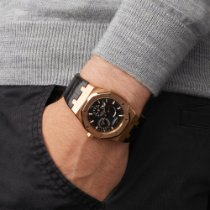 Audemars Piguet Royal Oak Dual Time Rose gold 39mm Black