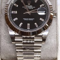 Rolex Day-Date 40 White gold 40mm Black No numerals UAE, Dubai