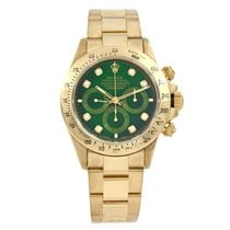 Rolex Daytona Yellow gold 40mm Green No numerals