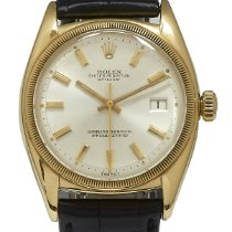 Rolex Bubble Back Yellow gold 36mm Silver