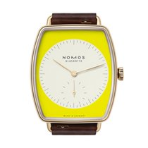NOMOS Lux Rose gold 38.5mm Yellow No numerals
